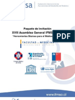 Paquete de invitación XVIII AG IFMSA-Chile