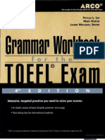 Grammar Workbook for the TOEFL Exam by Laurie Wellman Mary Kurtin