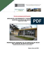 Plan de Contingencia Construccion Hospital de Nasca