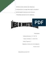 LÍNAS DE INVESTIGACION