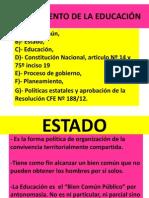 PLANEAMIENTO DE LA EDUCACIÓN- presentacion de power