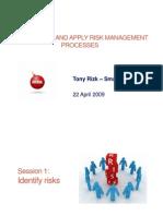 Risk Management, Managing Risk