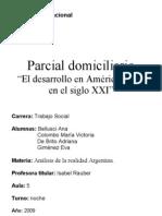 Analisis de La Realidad Argentina. Parcial Domiciliario.