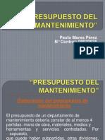 PRESUPUESTO DEL MANTENIMIENTO.ppt