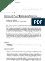 History of Plant Population Genetics