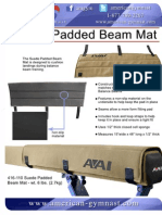 AG Suede Padded Beam Mat Flyer