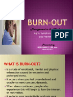 Burnout Management in the Workplace