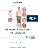 TECNICAS DE TINCIONES HISTOLOGICAS