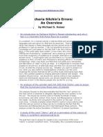 Zecharia Sitchin s Error an Overview