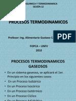 Procesos Termodinamicos Gaseosos Sesion 12