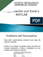 Programación con Excel y MATLAB