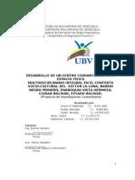 DESARROLLO DE UN CENTRO MULTIDISCIPLINARIO INTEGRAL DEL  SECTOR LA LUNA.doc