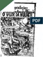 O Valor Da Mulher, Cordel, 1900