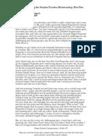 E Mattis Namgyal, Understanding the student teacher relationship (2009)