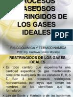 Unidad 1 Procesos Gaseosos Restringidos de Los Gases Ideales Sesion 2