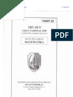 Soal Dan Pembahasan Try Out Ujian Nasional Smp 2013 Kabupaten Sampang