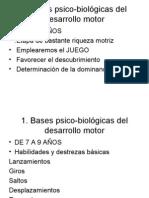 Bases psico-biológicas del desarrollo motor