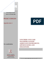WFP Vouchers and Cash Transfers as Food Assistance Instruments - Opportunities and Challenges