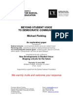Michael Fielding - Beyond Student Voice to Democratic Community (Esmee Fairbairn Paper - 12 June 08)