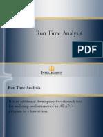sap abap Run Time Analysis