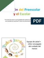 Nutrición del Preescolar y el Escolar