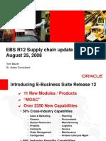 EBS R12 Supply Chain Update