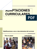 ADAPTACIONES CURRICULARES 2012