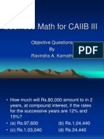 Business Math for CAIIB III.ppt
