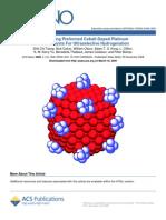Engineering Preformed Cobalt-Doped Pt Nanocatalyst for Ultraselective Hydrogenation (ACS.nano-2008)