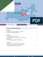 2009 Fascist Tendencies Russian Analytical Digest 60