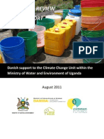 A Review of Danish support to the Ugandan Climate Change Unit, Ministry of Water and Environment, Royal Danish Embassy, Kampala and Ministry of Water and Environment, GoU.