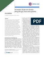 Acute on Chronic Liver Failutre