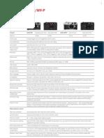 M9 & M9-P Technical Data_en