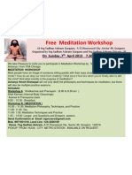 Free Workshop on Meditation and Shatkarmas