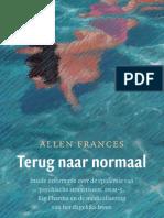 Terug naar normaal - Allen Frances (leesfragment)