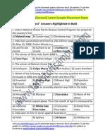 CMC Sample Aptitude (General) Placement Paper