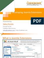 Developing Joomla Extensions-JUG Bangladesh Meetup Dhaka-2012