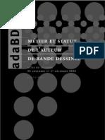Métier et Statut de l'Auteur de BD (AdaBD, 2002)