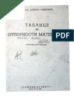 Danilo Raskovic - Tablice Iz Otpornosti Materijala