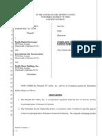 PC Tables v. Pacific Digital Electronics Et. Al.