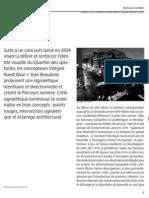 Encyclopédie du Design d'ici, rubrique Parcours Lumière (2011)