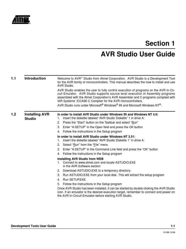 avr studio user guide pdf scope computer science c rh scribd com User Guide Icon Quick Reference Guide