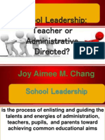 Educational Leadership Report