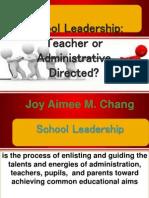 Educational Leadership Report