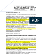 PORTARIAS  Nº 123 e 124 AUTORIZA REPASSES FINANCEIRO PARA NATAL