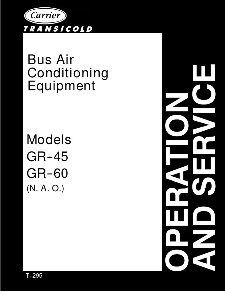 Carrier Bus Air Conditioning Unit Model GR-45&GR-60