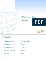 IPv6 for LIRs Training Slides