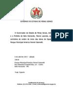 Cerimônia Ordem Serviço início obras Espaço Multiuso Pq Municipal