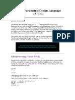 ANSYS Parametric Design Language