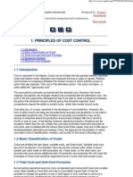 1. Principles of Cost Control